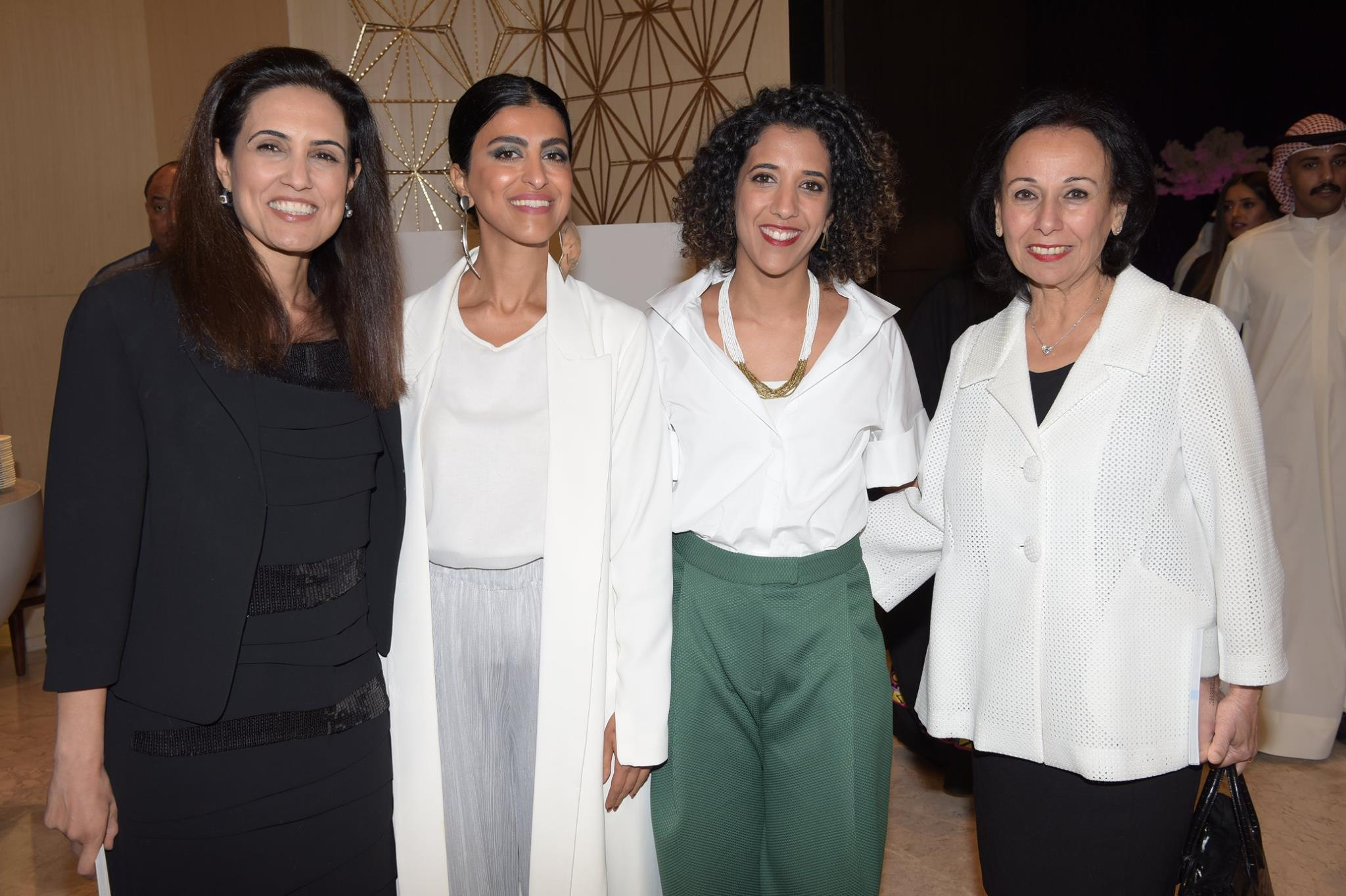 An evening full of happiness, inspiration and creativity with Rana Al-Khaled, Co-Founder Protégés, Sara Al Nafisi & Hussa Al Humaidhi, Cultural Developers NUQAT, Wafa Al-Qatami, Board Member Kuwait Chamber of Commerce & Industry (right) ©Those Who Inspire