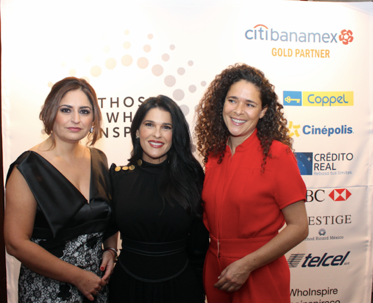 Amazing night at the book launch of Those Who Inspire Mexico with Rocio Marfil (left), director Those Who Inspire Mexico, Martha Debayle, social promoter and Marlene Plomik, co-founder Those Who Inspire (right) ©Those Who Inspire