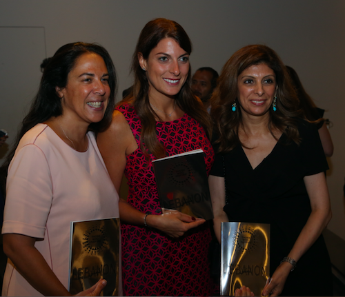 The book Those Who Inspire Lebanon officially launched – with Asma Andraos (left), Co-Founder Stree Luxury Events, Ray Bassil (centre), professional athlete, and Abir Chebaro (right), Advisor to the Prime Minister on Women's Affairs © Those Who Inspire